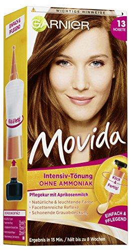 Garnier Movida 13 Noisette, Tönung für eine natürliche Haarfarbe, Ohne Ammoniak für einen angenehmen Duft (3 Stück)