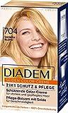 Diadem Schwarzkopf Seiden-Color-Creme, hochwertige Haarfarbe 704 Saharablond Stufe 3, 3er Pack (3 x...