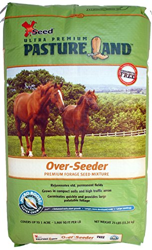 X-Seed 440FS0021UCT185 Land Over-Seeder Pasture Forage Seed, 25-Pound , Green