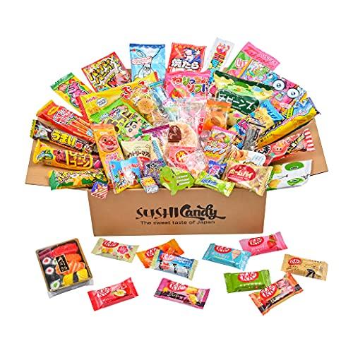 60 Japanese Candy & Snack 10 Sushi Candy Box Set Amezaiku Japanese 10 kit...