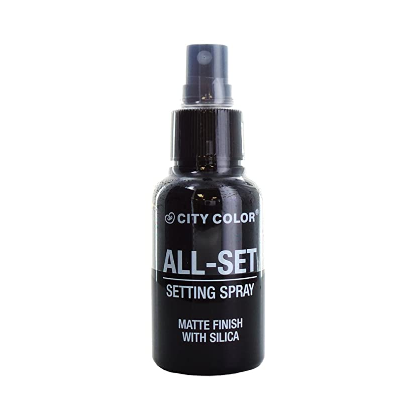 (6 Pack) CITY COLOR All-Set Setting Spray (並行輸入品)