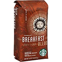 6-Pack Starbucks Breakfast Blend 16 Ounce Ground Coffee