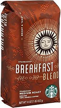 6-Pack Starbucks Breakfast Blend 16oz Ground Coffee