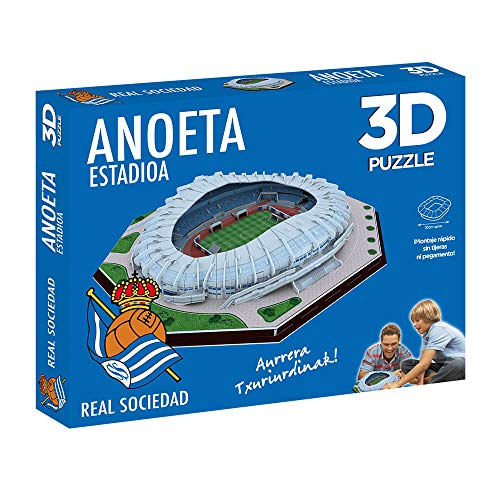 ELEVEN FORCE Puzzle Estadio 3D Anoeta (Real Sociedad) (63485), multicolor, ninguna (1)
