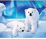 FNECCC Regalos para el Día del Niño-Rompecabezas clásico para Adultos-Rompecabezas de Oso 1000 piezas-3D-Decoración de Bricolaje-Habitación Pequeño Rompecabezas de Osito Polar