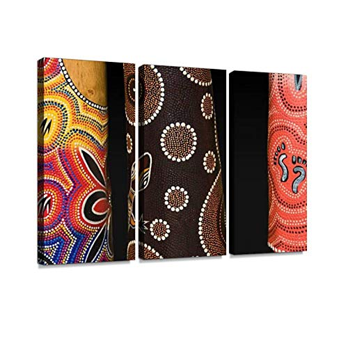 A set includes 3 panels ( 12X24X3 inches ). Hand made triptych painting. Each canvas art is custom made. Actual artwork may be slightly different from the product image. The abundance of art themes ranges from charming abstracts to amazing landscapes...