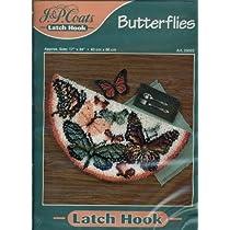 """J&P Coats Latch Hook Kit - Butterflies 17"""" by 34"""" [並行輸入品]"""