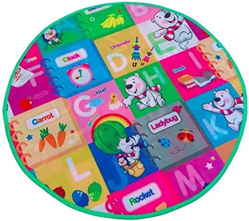 hsj LF- Rund Kriechende Matte des Babys Schaum Spiel-Matten-Wasserdichtes Playmat for Kinder Kleinkind Kleinkinder tragbare Matte for Outdoor/Indoor-Spielzeug Lernen