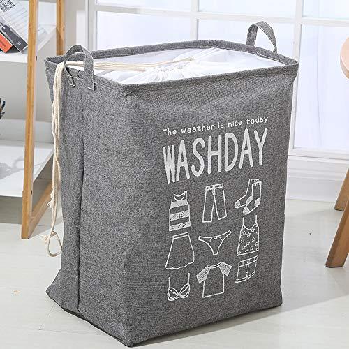 TL Aufbewahrungsbehälter, Faltbare großer Steppdecke Kleidung Ablagekorb für Schlafzimmer und Bad 2 Packungen,Grau