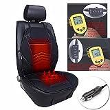 Gorgebuy 1 PC Temperatura Cojín del asiento de coche Cojín de calefacción cubierta de hielo frío Invierno Protector de clima Automóviles Funda de asiento