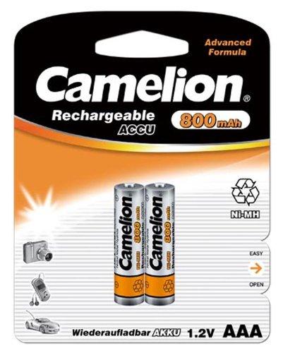 Camelion HR03 - Pile ricaricabili Micro AAA, 800 mAh, 1,2 V, Ni-MH, 2 pz