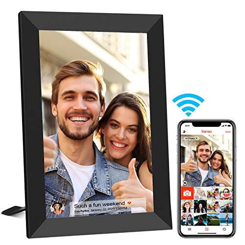 FRAMEO 8 Inch Smart WiFi Digital Photo Frame with Touch Screen, 1280x800 IPS LCD Panel, Auto-Rotate Portrait and Landscape,Built in 16GB Memory, Share Moments Instantly via Frameo App from Anywhere