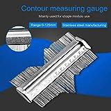 Medidor de contorno de 5 pulgadas | calibre de perfil de acero inoxidable para medir la formación de bordes laminados de carpintería