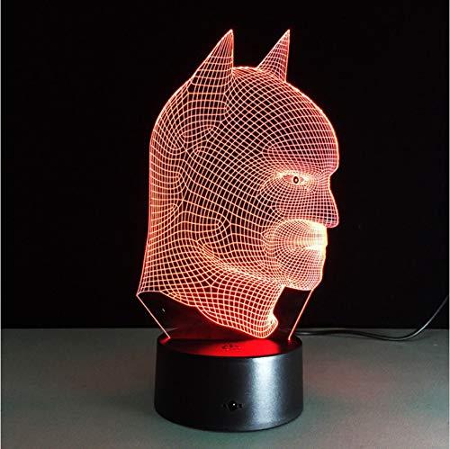 Batman Super Hero Lampe 7 Couleurs Changeantes 3D Illusion Led Veilleuse Comme Chambre À Coucher Outre Les Lampes Pour Enfants Enfants Lampe De Table