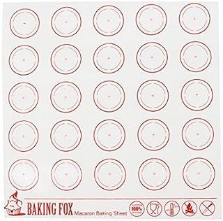 Patrón Círculo de silicona eDealMax antiadherente bandeja de horno para hornear Macaron Mat Rojo Blanco