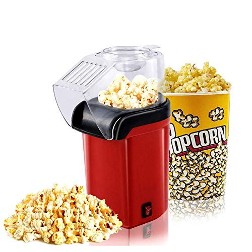 Amazing Deal Ss Hot air Popcorn Machine with Transparent Cover, 1200W Electric Popcorn Machine air P...