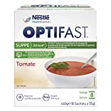 OPTIFAST KONZEPT Diät Suppe Tomate zum Abnehmen | eiweißreicher Mahlzeitenersatz mit wichtigen Vitaminen und Mineralstoffen | schnell zubereitet und lecker im Geschmack |8 x 55g -
