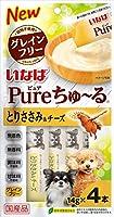 (まとめ買い)いなばペットフード Pureちゅ~る とりささみ&チーズ 14g×4本 【×16】