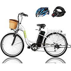 {HIGH-QUALITY MATERIAL & AFFORDABLE PRICE} :The electric bikes adopts High-strength Carbon Steel Frame, the front fork is made of High-strength Carbon Steel and packed with premium comfort shock absorption.Affordable Direct to Consumer Pricing (Sell ...