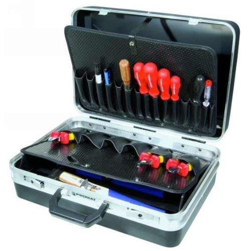 PROMAT 871745 Schalenkoffer ABS 465x310x170mm Alu.-Rahmen PROMAT schwarz