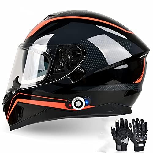 Bluetooth Motorcycle Helmet FreedConn BM12 DOT Full Face Bluetooth Helmets Motorcycle Dual Visor...