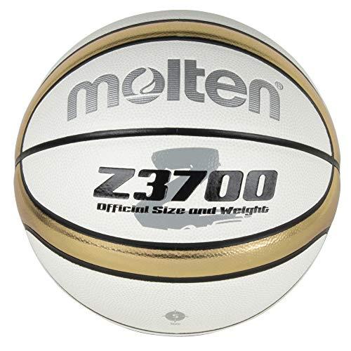 モルテン(molten) バスケットボール 5号球(小学生用) 合皮 白×金 B5Z3700-WZ
