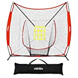 Zupapa 7 x 7 Feet Baseball & Softball Practice nets, Practice Pitching net for Hitting,...