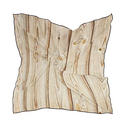 NaiiaN Quadrat für Frauen-Damen-Schal-Schal-Wächter-Kopftuch 60 × 60 cm-leichter Druckkopf wickelt einfaches Leben-Holzzaun-Beschaffenheit ein