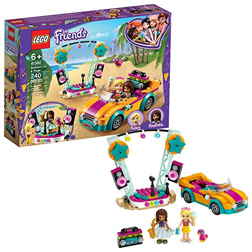 LEGO Friends Andrea's Car & Stage Playset 41390 Building Kit, Includes a Toy Car and a Toy Bird (240 Pieces)