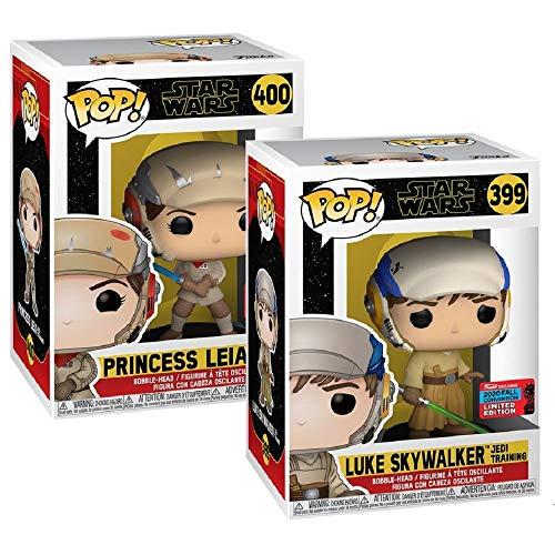 Funko 53117 Pop! Star Wars - Luke Skywalker & Princess Leia Jedi Training Double Pack (NYCC 2020 Exclusives) #399 & #400