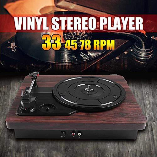 HMY Retro-Schallplatten Antiker Vinyl-Plattenspieler Vintage-Plattenspieler Plattenspieler Moderne Vinyl-Schallplatte Playerstereothree Geschwindigkeit Vinyl Record-Plattenspieler