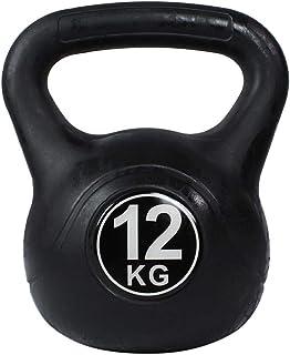 Riscko Pesa Rusa de 2 a 20 kg con Revestimiento de Vinilo Kettlebell para Crossfit