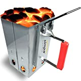 SIMPA® Large Chimney Charcoal Coal Starter BBQ Coal Fire Fast Lighter Grill Quick