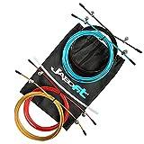 JABOFIT Set de cables de Repuesto para Cuerda de Saltar Fitness,Crossfit, | 4 Unidades para Comba Fitness Speed Rope en Acero de 2.5mm* 3 Mts Recubierto PVC | Compactible con Varias Marcas