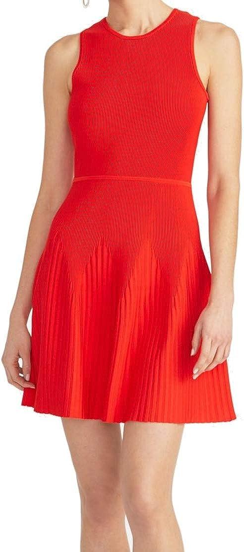 RACHEL Rachel Roy Womens Liliana Textured Ribbed Mini Dress Red M
