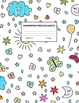 Handwriting Practice Sheets  Cute Blank Lined Paper Notebook for Writing Exercise and Cursive Worksheets - Perfect Workbook for Preschool .. 3rd and 4th Grade Kids - Product Code A4 2260