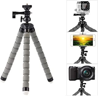 Mini Flexible Tripod Lightweight Adjustable Octopus Tripod Legs Selfie Stick Stand with Universal Phone Clip Holder for iPhone Cellphones Gopro Mini DSLR Cameras (Grey)