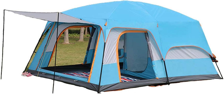 WANG2018 Blaues Campingzelt, Familie Outdoor Travel Essential Yurt, 100% wasserdicht, mehr als 10 Personen Abenteuer Klettern Angeln Park Zelte B07QJ6V1SL  Hochwertig