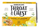 Jakemans Throat & Chest 24 ct Honey & Lemon Lozenges to Relieve Sore Throat and coughs