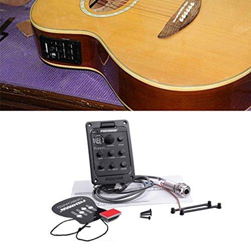 KinshopS Fishman - Afinador de guitarra acústica ecualizador de 4 ban