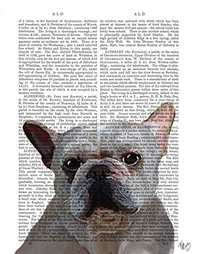 Feeling at home CANVAS-FRAMED-with-AMERICAN-BOX-White-French-Bulldog-Plain-Animals-wall-decore-on-wood-frame-Vertical-27x21_in