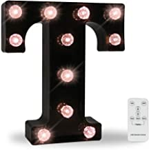 Obrecis LED Wall Letters Lights Alphabet, Diamond Bulbs Marquee Letters with Lights Remote Control Night Light for Bar, Ch...