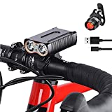 Best Bicycle Lights 5000 Lumens Rechargeables - BESTSUN USB Rechargeable Bike Lights, Super Bright 5000 Review