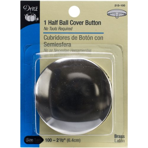 Dritz 213100 Half Ball Cover Button Size 100 21/2Inch 1Sets
