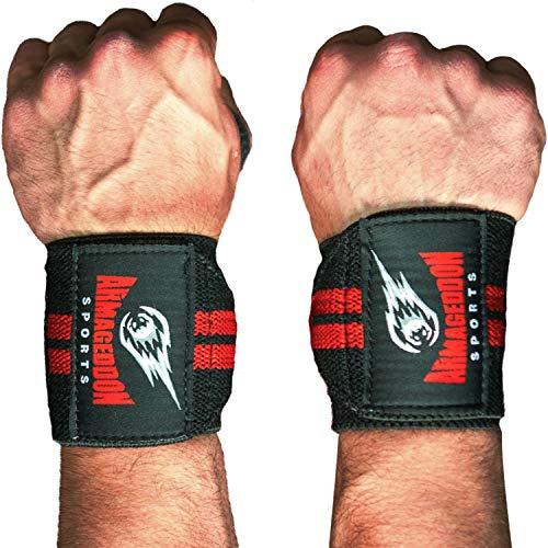 Muñequeras Deportivas Levantamiento de Pesas - Gym Wrist Wraps para Hombre Mujer