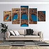 VKEXVDR Cuadro sobre Lienzo-5 Piezas- Arena -Cuadros Modernos Impresión de Imagen Artística Digitalizada Lienzo Decorativo para Tu Salón o Dormitorio