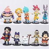10 unids / Set 7Cm Figura de Anime Dragon Ball Z Son Goku Majin Buu Vegeta Figuras de acción Draog...