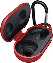 Portable Carrying Red Case for Samsung Galaxy Buds 2019, GONJOY Protective Silicone Cover and Skin for Samsung Galaxy Buds with Anti-Lost & Shockproof & Waterproof,Can be Charged Directly with Case