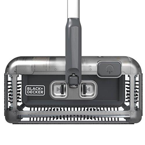 Black+Decker PSA215B-QW 7.2V, 1.5Ah Lithium Akku-Kehrbesen, Laufzeit 60 min, für kurzflorigen Teppiche und Hartböden, kabellos, beutelos, aufladbar, schwarz, PSA215B, Acrylic, 300 milliliters, Grau - 4
