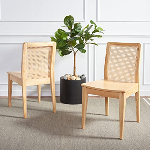 Safavieh Home Collection Benicio Natural Rattan Dining Chair (Set of 2) DCH1005D-SET2